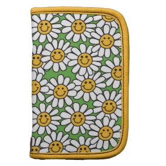 Modelo de flores sonriente de la margarita organizador
