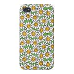 Modelo de flores sonriente de la margarita iPhone 4 protector