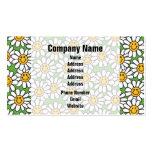 Modelo de flores sonriente de la margarita plantillas de tarjetas personales