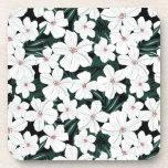 Modelo de flores tropical blanco