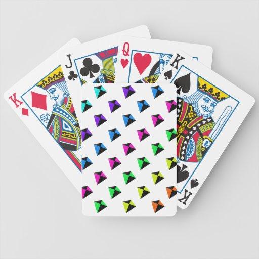 Modelo de forma diamantada multicolor de las comet baraja cartas de poker