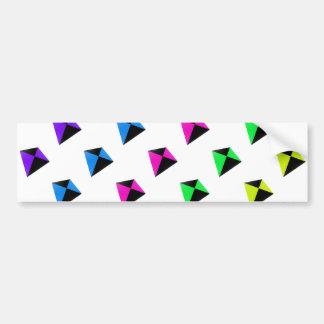 Modelo de forma diamantada multicolor de las comet pegatina para auto