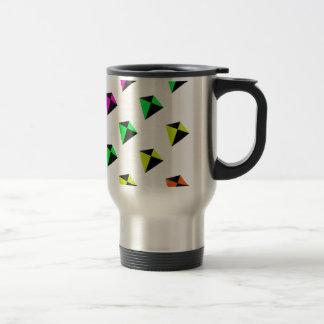Modelo de forma diamantada multicolor de las comet tazas de café