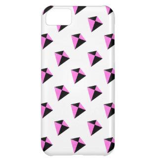 Modelo de forma diamantada rosa claro y negro de l