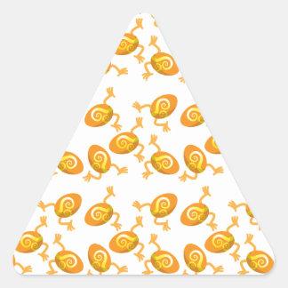 Modelo de funcionamiento de los huevos de Pascua Pegatina Triangular