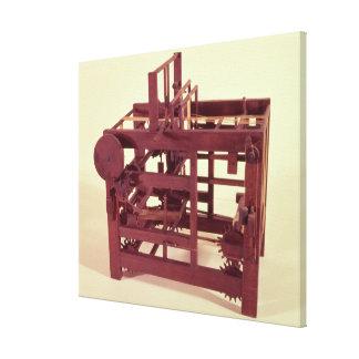 Modelo de funcionamiento de un telar impresión de lienzo