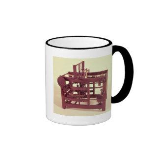 Modelo de funcionamiento de un telar taza de café