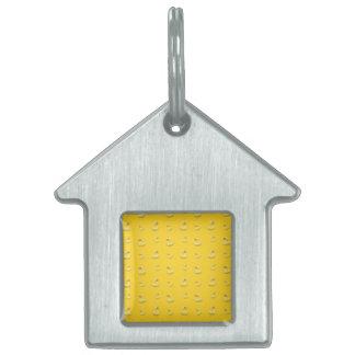 Modelo de goma amarillo del pato placa mascota