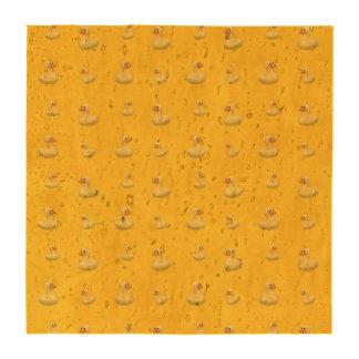 Modelo de goma amarillo del pato posavasos