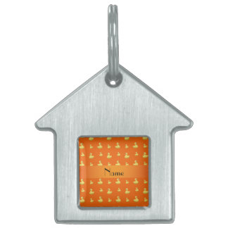 Modelo de goma anaranjado conocido personalizado d placas mascota