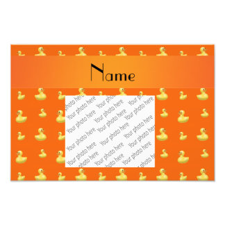 Modelo de goma anaranjado conocido personalizado fotografía