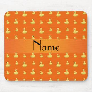 Modelo de goma anaranjado conocido personalizado tapetes de ratón