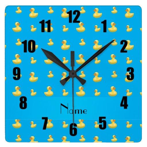 Modelo de goma conocido personalizado del pato del relojes