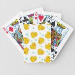 Modelo de goma del pato barajas de cartas