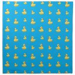 Modelo de goma del pato del azul de cielo servilleta de papel