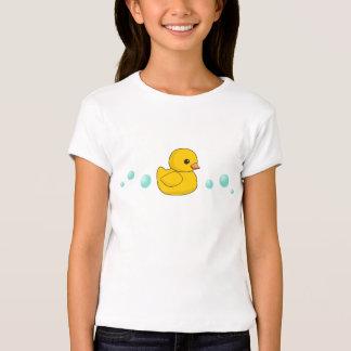 Modelo de goma del pato playera