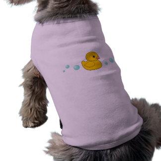 Modelo de goma del pato camisa de mascota