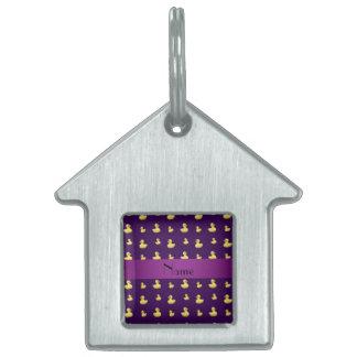 Modelo de goma púrpura conocido personalizado del  placas de mascota