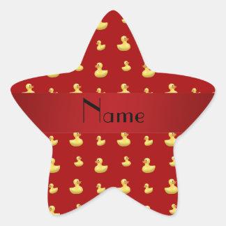 Modelo de goma rojo conocido personalizado del pat calcomanías forma de estrellaes