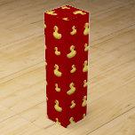 Modelo de goma rojo del pato caja de vino