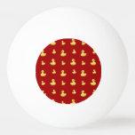 Modelo de goma rojo del pato pelota de tenis de mesa