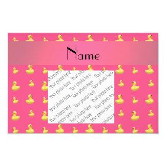 Modelo de goma rosado conocido personalizado del impresión fotográfica