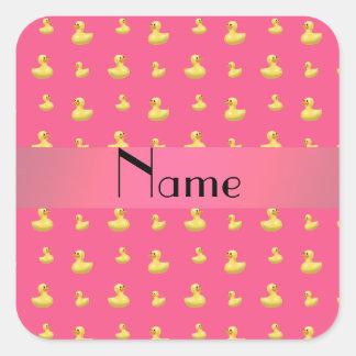 Modelo de goma rosado conocido personalizado del pegatina cuadrada