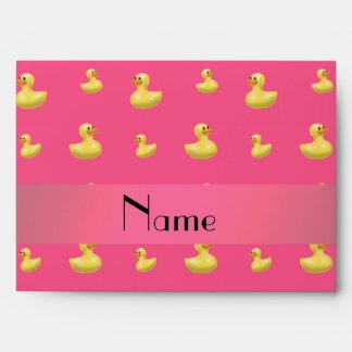Modelo de goma rosado conocido personalizado del sobres