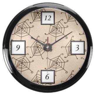 Modelo de Halloween del Web de araña Reloj Aquavista