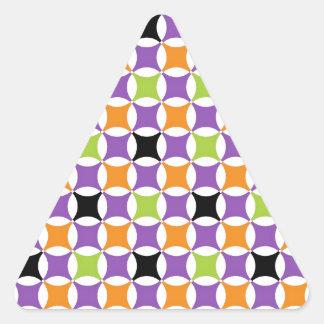 Modelo de Halloween Pegatina Triangular