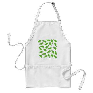 Modelo de hojas verdes delantal