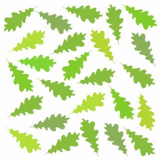 Modelo de hojas verdes escultura fotografica