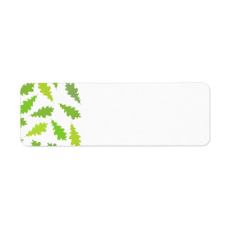 Modelo de hojas verdes etiqueta de remitente