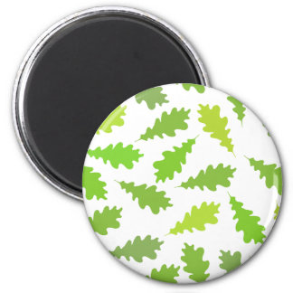 Modelo de hojas verdes imán de nevera