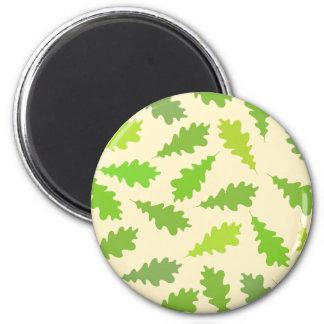 Modelo de hojas verdes imanes para frigoríficos