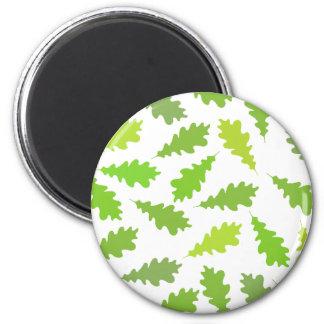 Modelo de hojas verdes imán para frigorifico