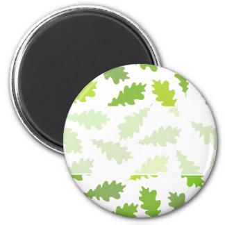 Modelo de hojas verdes imán