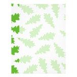 Modelo de hojas verdes membrete