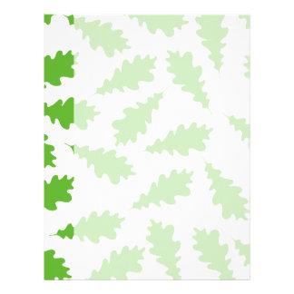 Modelo de hojas verdes membretes personalizados