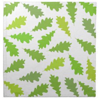 Modelo de hojas verdes servilleta de papel
