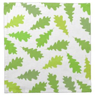 Modelo de hojas verdes servilletas