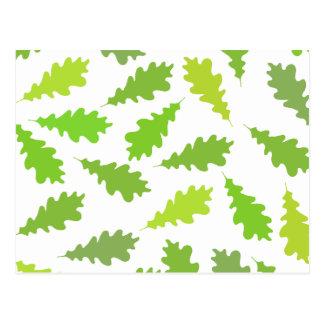 Modelo de hojas verdes postal