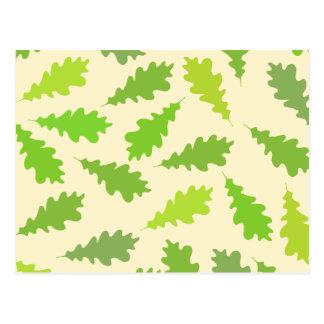 Modelo de hojas verdes tarjetas postales