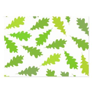 Modelo de hojas verdes tarjetas de visita grandes