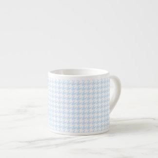 Modelo de Houndstooth - azul cielo Tazas Espresso