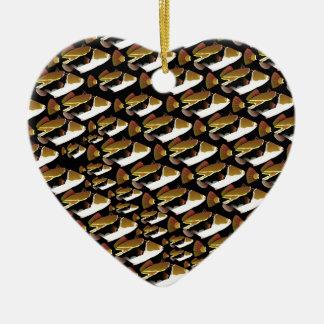 Modelo de Humu en negro Adorno Navideño De Cerámica En Forma De Corazón