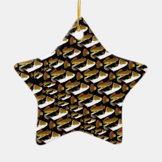 Modelo de Humu en negro Adorno Navideño De Cerámica En Forma De Estrella