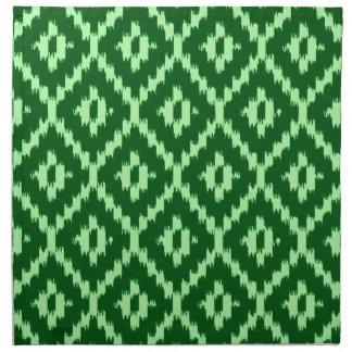 Modelo de Ikat - pino verde y pálido - verde Servilleta De Papel