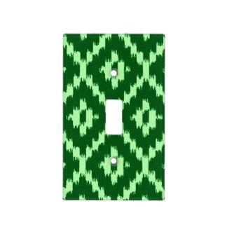 Modelo de Ikat - pino verde y pálido - verde Tapa Para Interruptor
