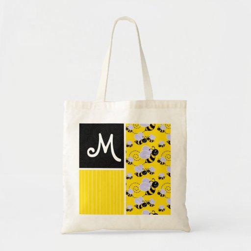 Modelo de la abeja amarilla y negra bolsa